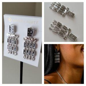 NWT Kendra Scott Jack Silver Earrings Gift Receipt